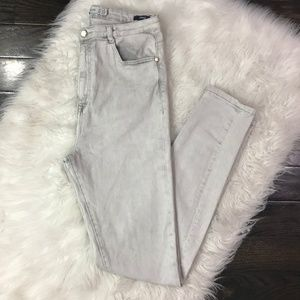 Zara Jeans Skinny High Waisted Gray